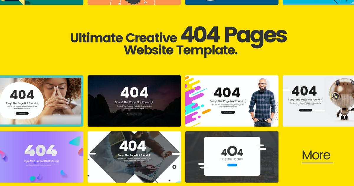 Download Ultimate Creative 404 Pages Website Template by UserThemes