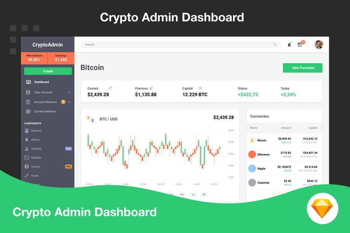 Cryptocurrency Admin Dashboard
