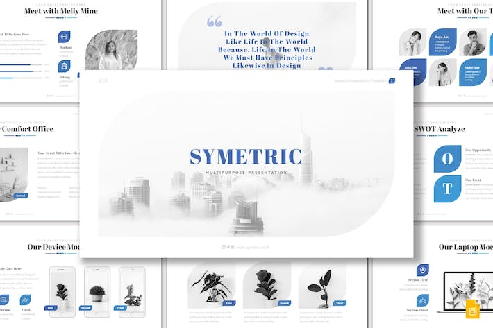 Cover Image For Symetric - Google Slides Template