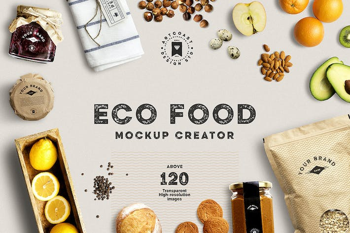 Thumbnail for Eco Food Mockup Creator