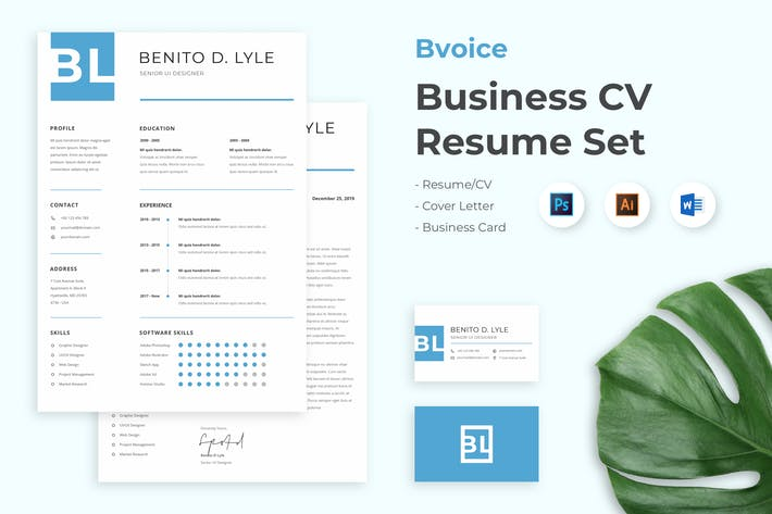 Thumbnail for Bvoice - Business Clean Resume CV Set