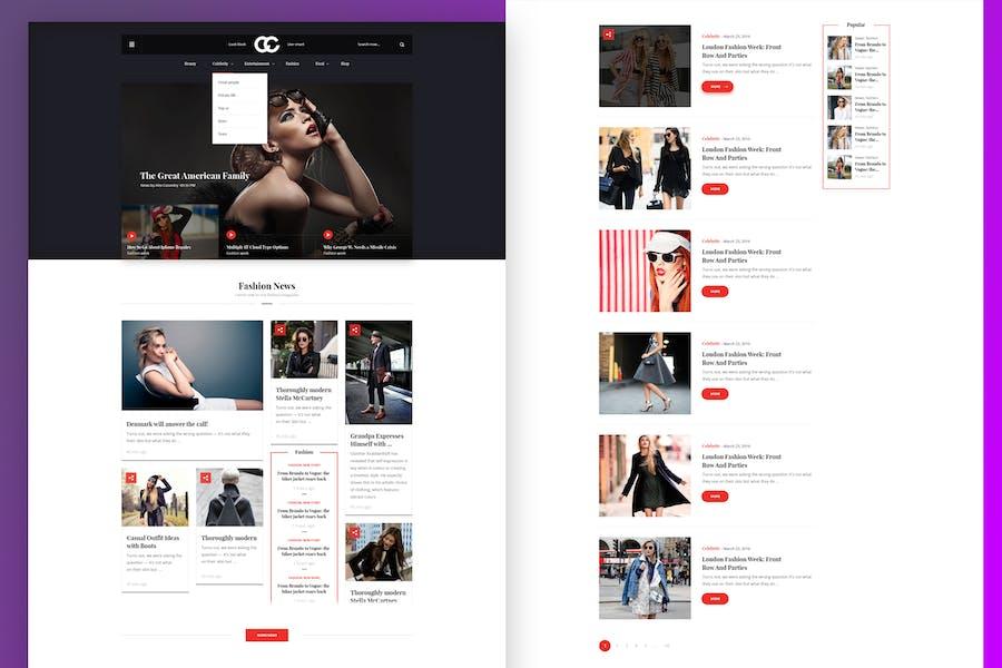CC - Fashion & Magazine PSD Template