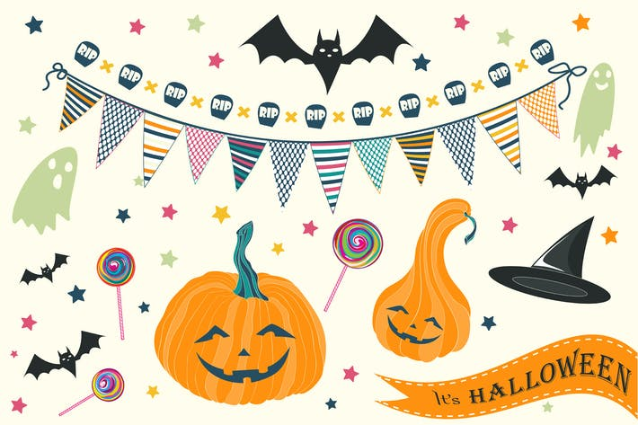 Halloween backgrounds and elements