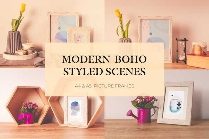 Thumbnail for Modern Boho Picture Frame Mockup Bundle