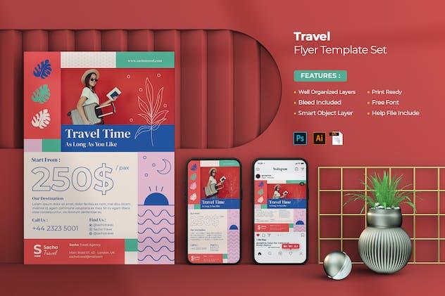 Travel Flayer Set
