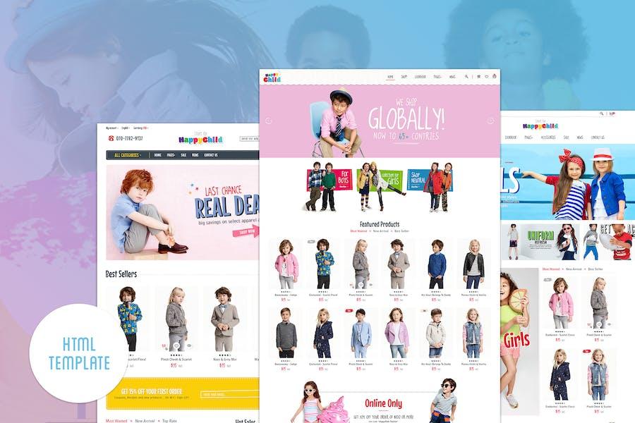 HappyChild | Multi Store Responsive HTML Template
