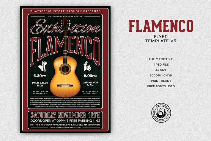 Thumbnail for Flamenco Flyer Template V5