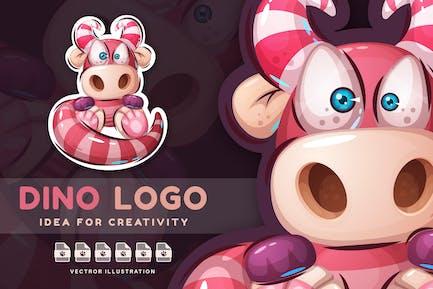 Teddy Dinosaur - Cute Sticker