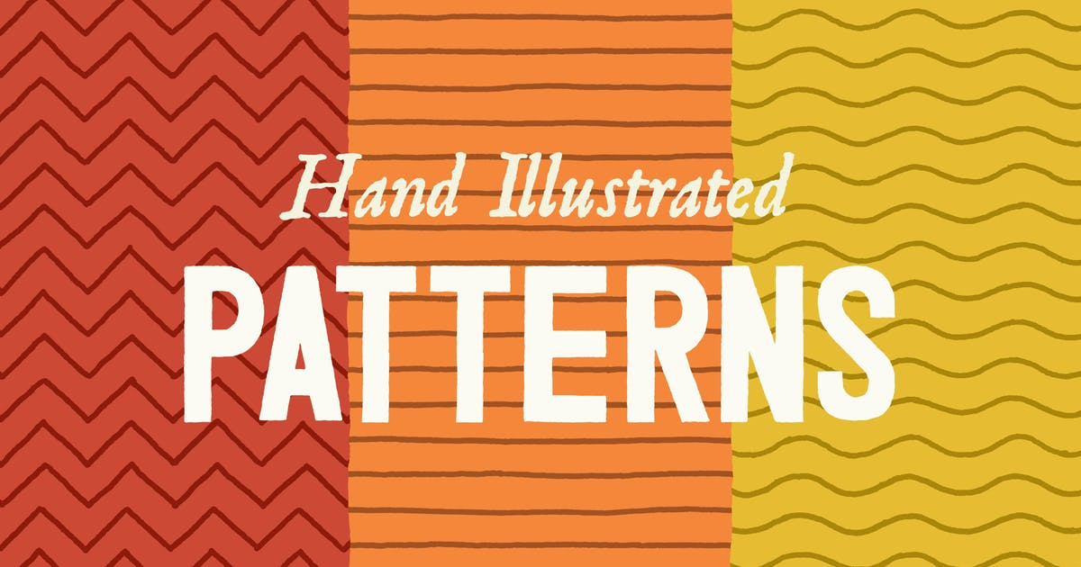 Download Hand Illustrated Line Patterns by ghostlypixels
