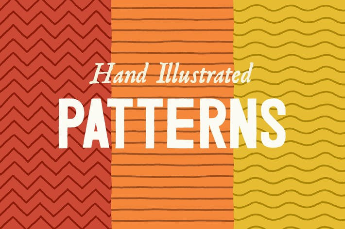 Cover Image For Hand Illustrated Line Patterns