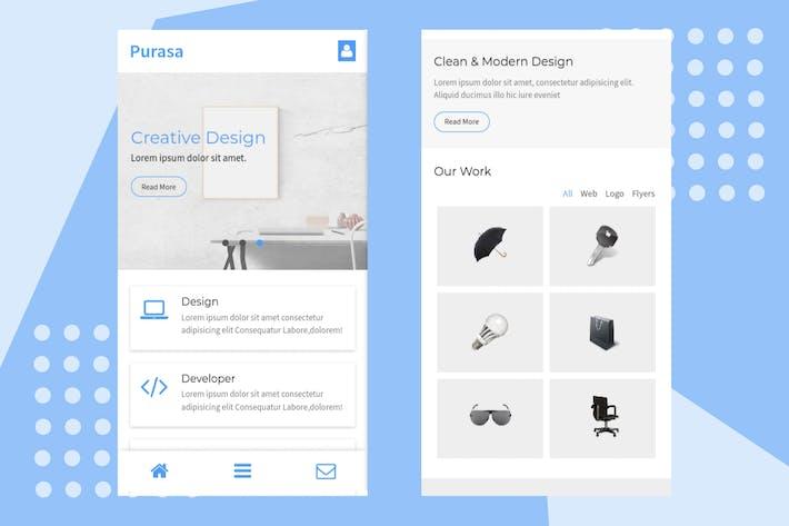 Thumbnail for Purasa – Responsive Mobile Template