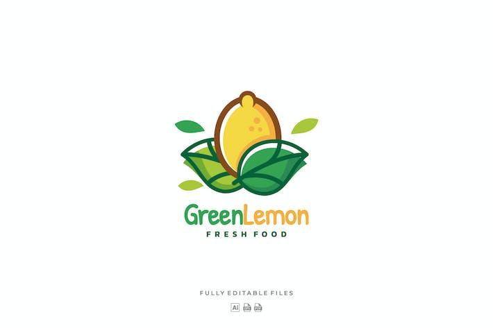 Thumbnail for Fruit Lemon Color Line Art Logo