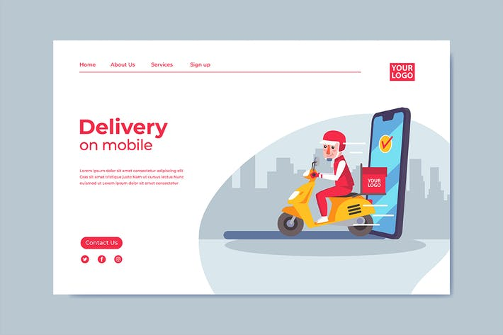 Thumbnail for Delivery Mobile Interface