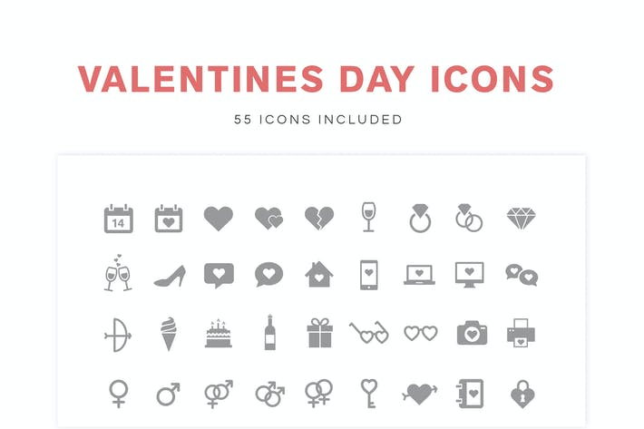 Thumbnail for Valentine's Day Icons