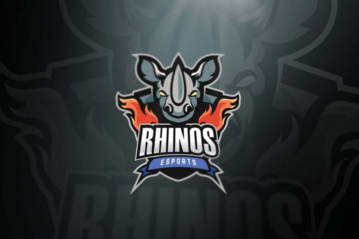 Thumbnail for Rhinos Sport and Esports Logos