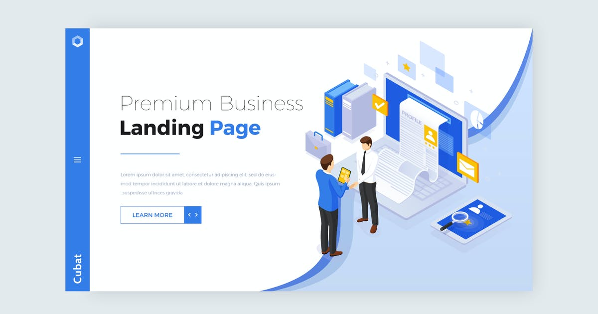 Download Cubat - Isometric Business Landing Page Design by ThemeWisdom