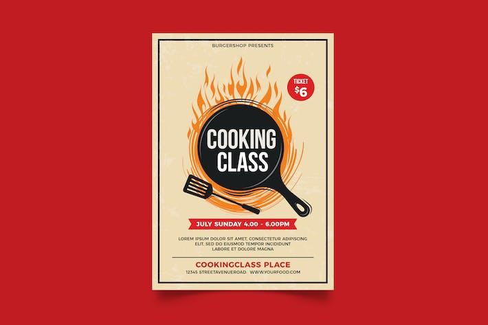 Flyer de cours de cuisine