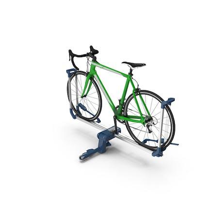 Bike Rack Aluminum Platform with Road Bike