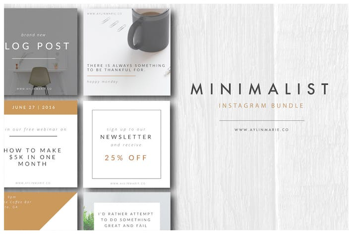 Thumbnail for The Blogger - Minimal Instagram Pack