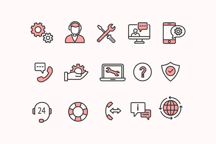 Cover Image For 15 Tech Support Icons