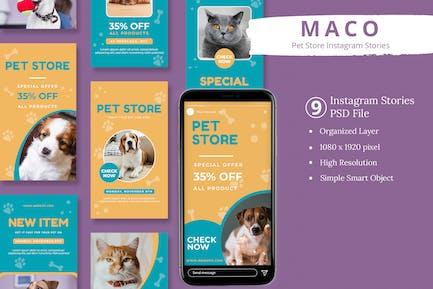 Maco - Pet Store Instagram Stories