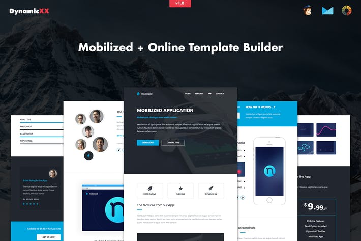 Thumbnail for Mobilized - Responsive APP Email Template