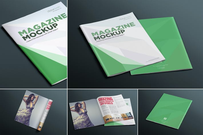 Thumbnail for Premium Magazine Mockups