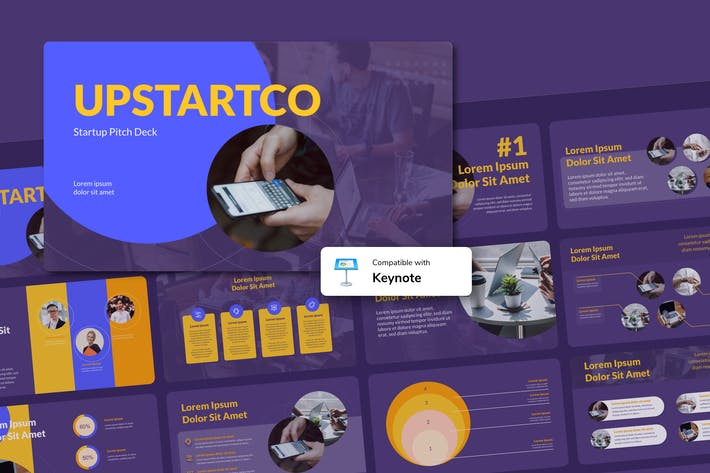 Thumbnail for UPSTARTCO - Startup Keynote Template