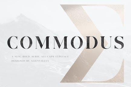 Commodus - All Caps Serif