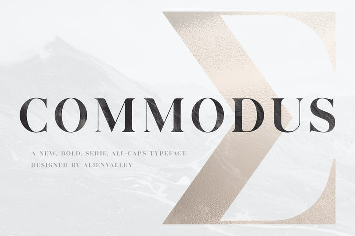 Commodus - All Caps Serif