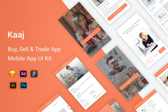 Thumbnail for Kaaj - Buy, Sell & Trade UI Kit Mobile App