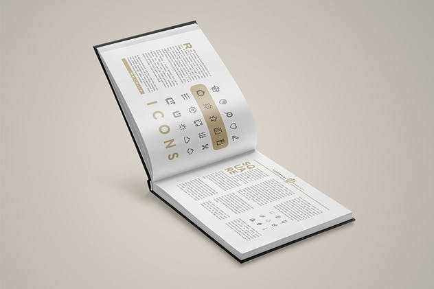 Landscape Book Mock-Up Set 2 - product preview 0