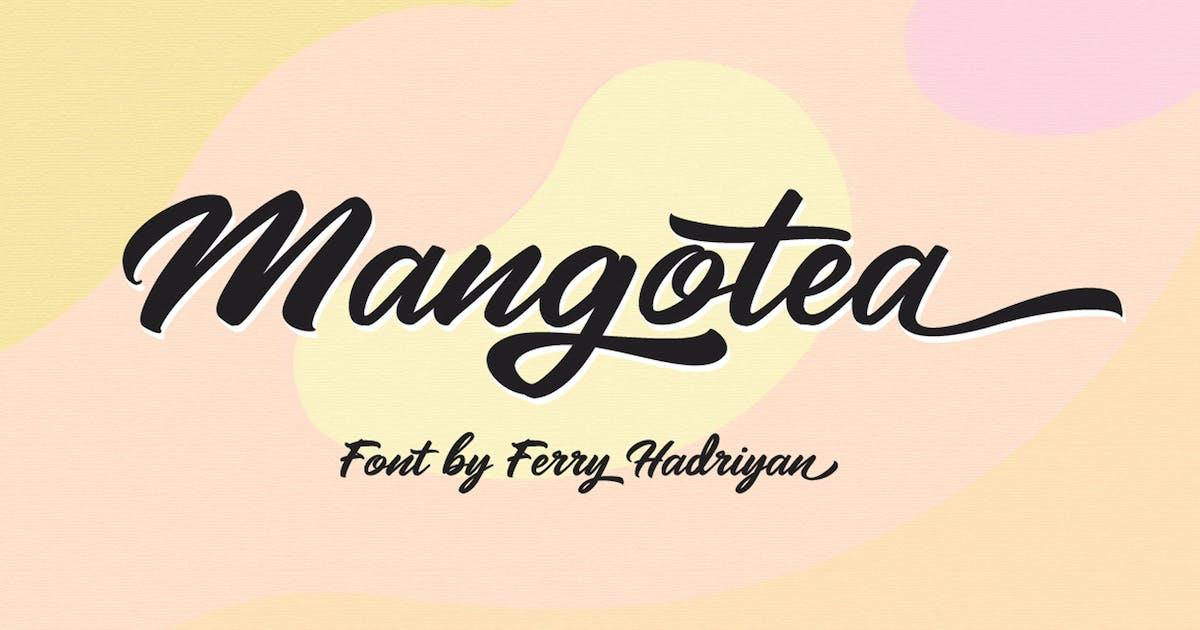 Download Mangotea - Script Font by Voltury