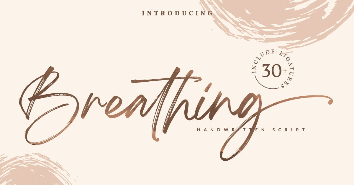 Download Breathing Brush Signature Font by Din-Studio