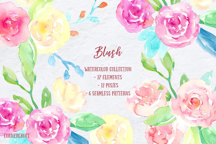 Thumbnail for Watercolor Collection Blush