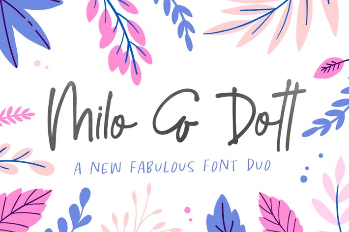 Thumbnail for Milo & Dott Font Duo