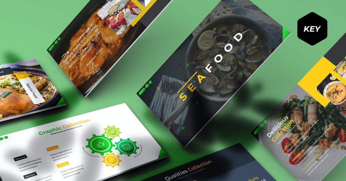 Download Seafood - Keynote Template by aqrstudio