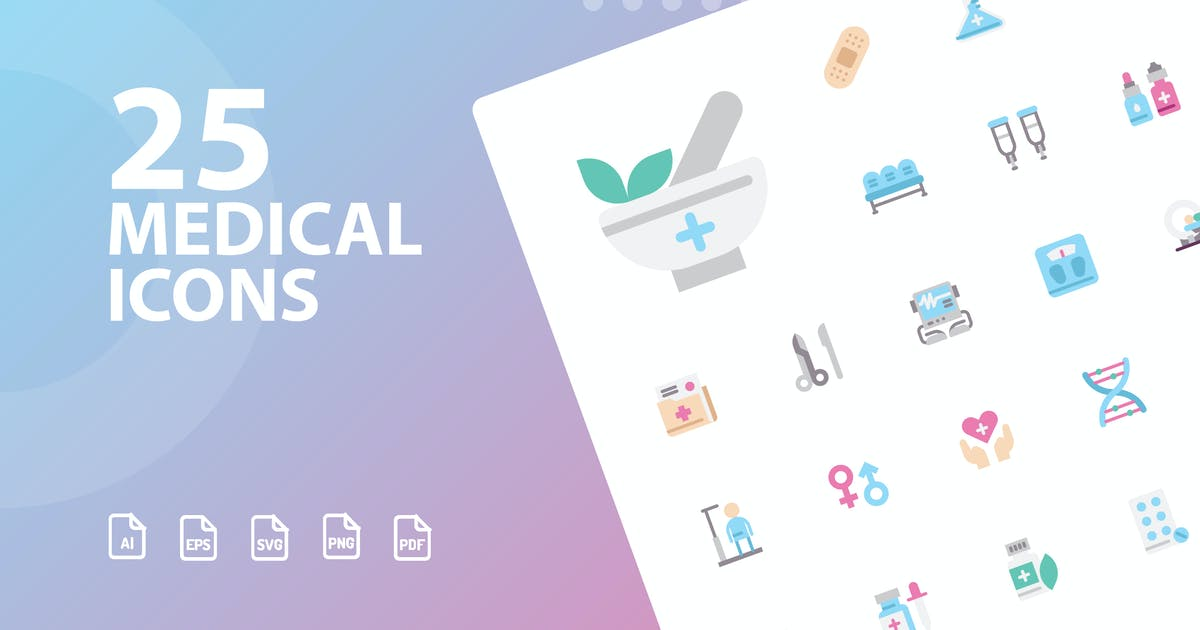 Download Medical Flat Icons by kerismaker