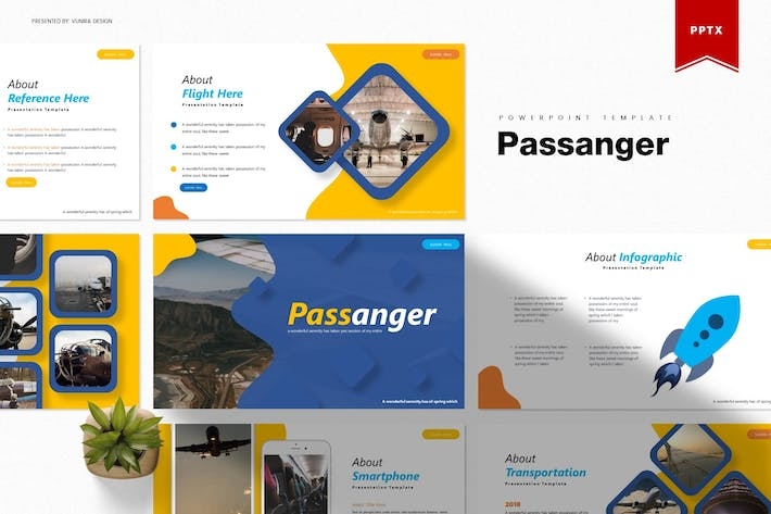 Thumbnail for Passanger | Шаблон Powerpoint