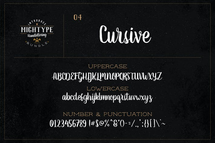 Thumbnail for Mightype 04 - Cursivo