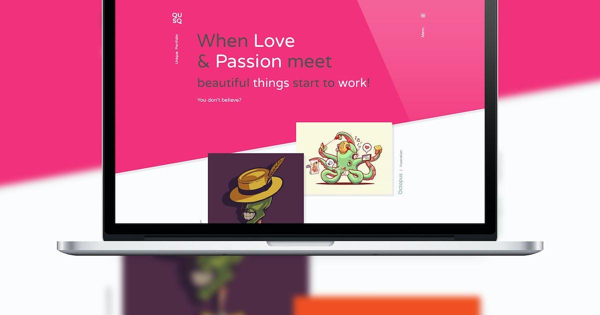 Download Qusq PSD - Flat Website Design by IshYoBoy