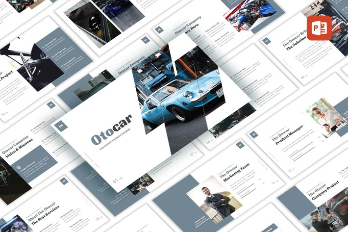 Thumbnail for Otocar - Automotive PowerPoint Template