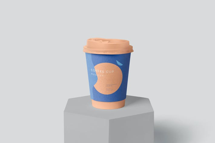 Thumbnail for Disposable Coffee Cup Packaging Sleeve Mockups
