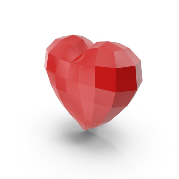 Low Poly Heart by PixelSquid360 on Envato Elements