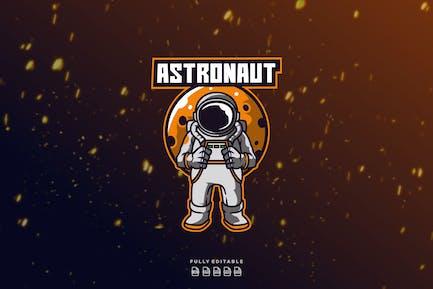 Astronaut Space Plane  Explorer Logo