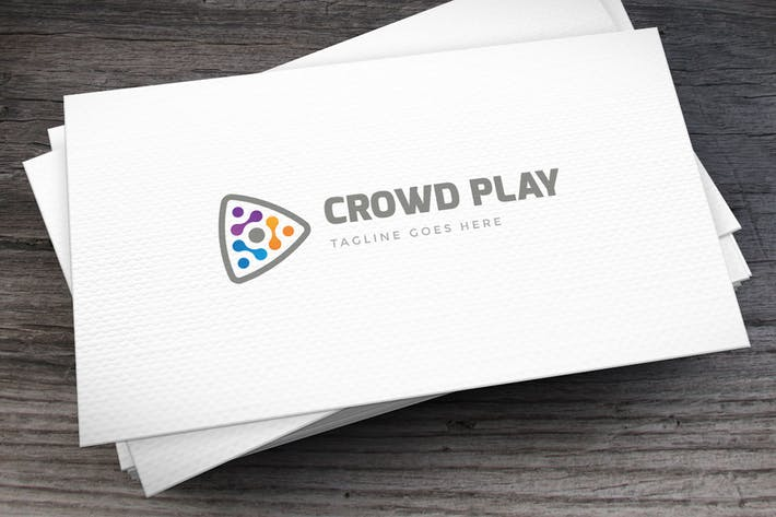 Cover Image For Crowd Play Logo Template