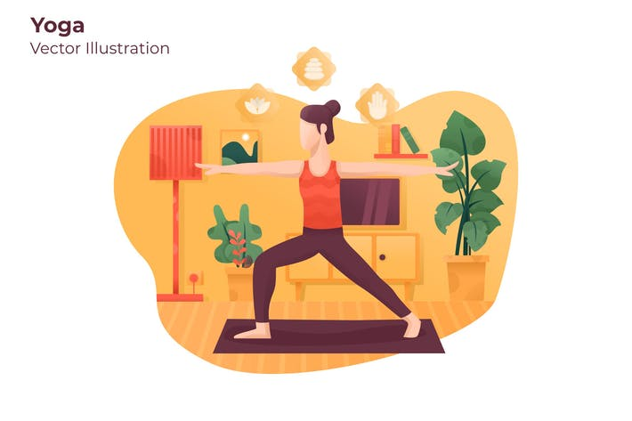 Yoga - Vektor illustration