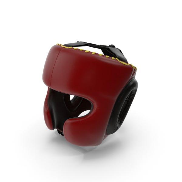 Boxing Training Helmet Red Generic