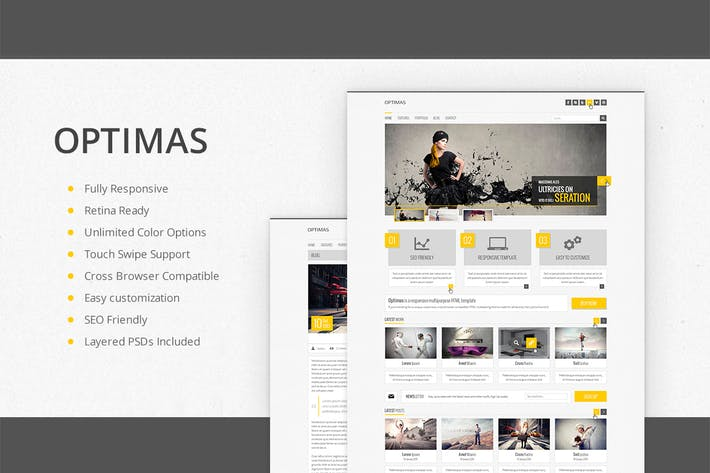 Thumbnail for Optimas - Responsive Multipurpose Template