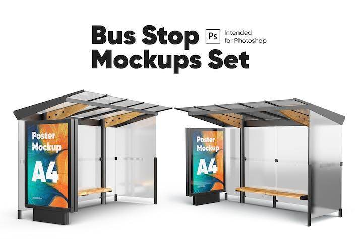 Thumbnail for Poster (Bushaltestelle) Mock-ups Set
